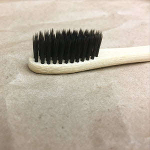 Single Bamboo Toothbrush with Activated Charcoal Bristles