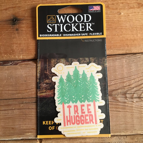 Tree Hugger Wood Sticker