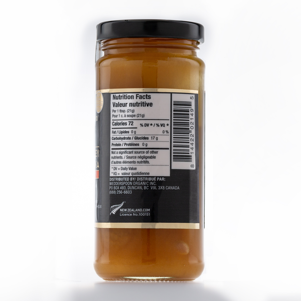 Raw Monofloral Manuka Honey KFactor 16, 325g/11.5oz
