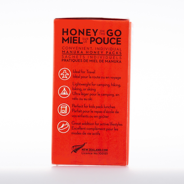 Honey On the Go - Raw Monofloral Manuka Honey KFactor 16 Travel Packs
