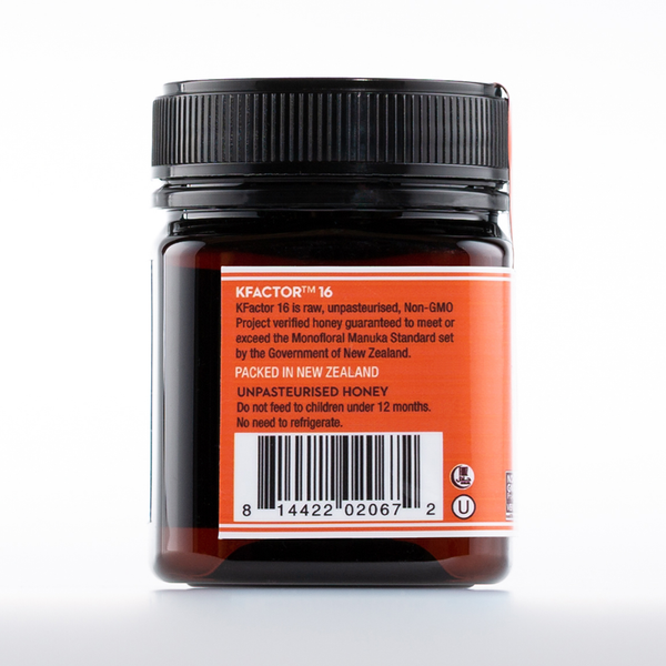 Raw Monofloral Manuka Honey KFactor 16, 250g/8.8oz