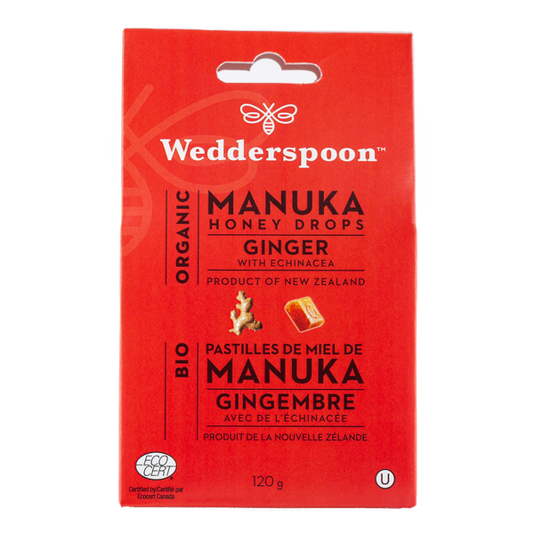 Organic Manuka Honey Drops - Ginger