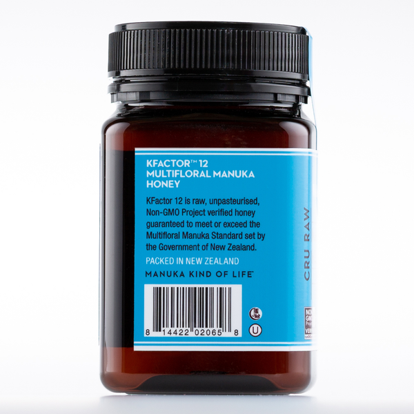 Raw Multifloral Manuka Honey KFactor 12, 500g/17.6oz