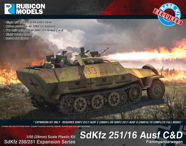 German SdKfz 251/16 Ausf C/D Expansion Set - Rubicon
