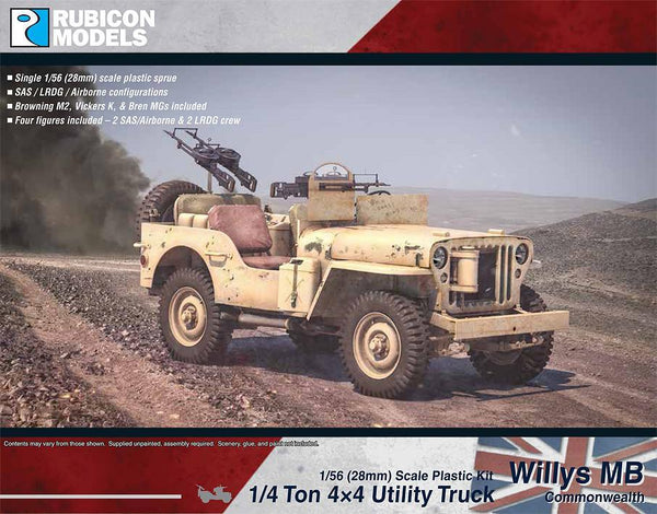Allied Willys MB 4x4 Truck (Commonwealth) - Rubicon