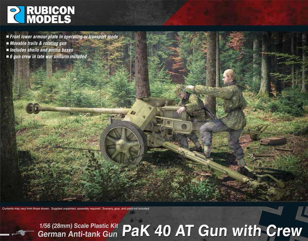 German Pak 40 AT Gun with Crew - Rubicon
