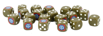 D-Day Americans 82nd Airborne Division Dice (x20)
