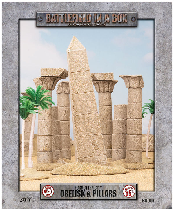 Forgotten City - Obelisk & Pillars