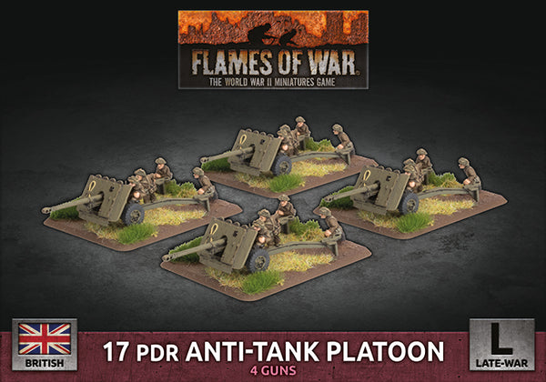 17 pdr Anti-Tank Platoon (British Late War) - Flames Of War Late War