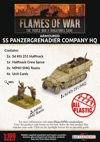 Armoured SS Panzergrenadier Company HQ - Flames Of War Late War Germans 2