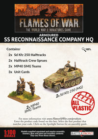 SS Reconaissance Company HQ - Flames Of War Late War Germans 2