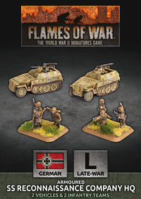 SS Reconaissance Company HQ - Flames Of War Late War Germans 1