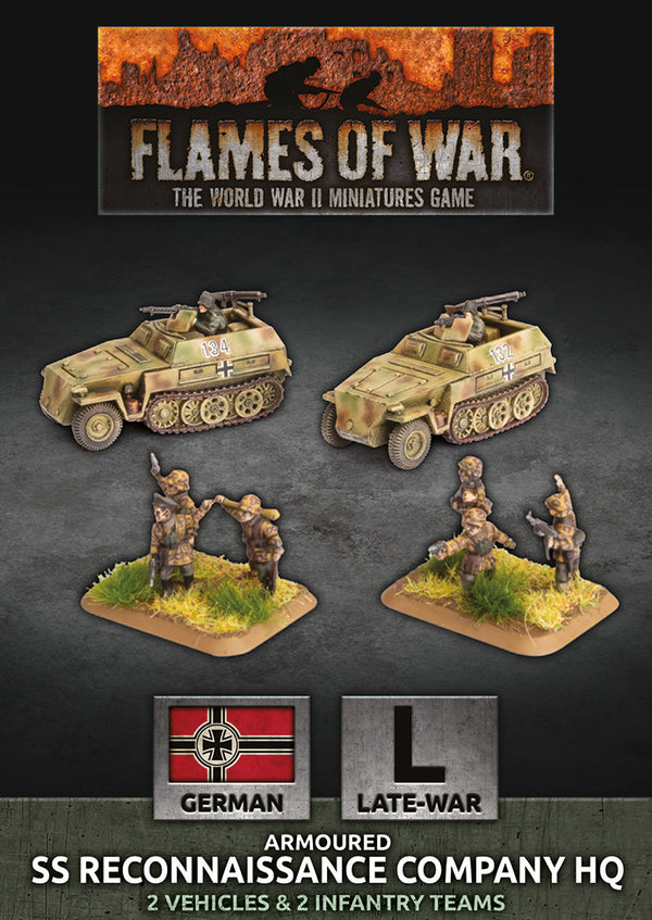 SS Reconaissance Company HQ - Flames Of War Late War Germans