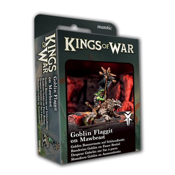 Goblin Flaggit on Mawbeast - Kings Of War