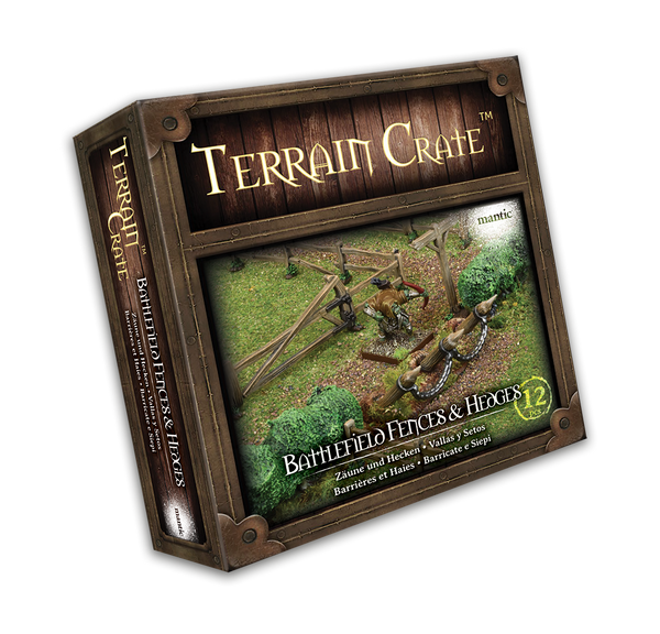 Battlefield Fences & Hedges - Terrain Crate