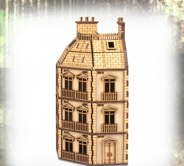 25mm City Rowhouse Corner - Fantasy Realms