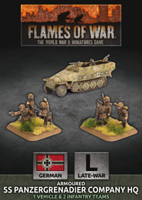 Armoured SS Panzergrenadier Company HQ - Flames Of War Late War Germans 1