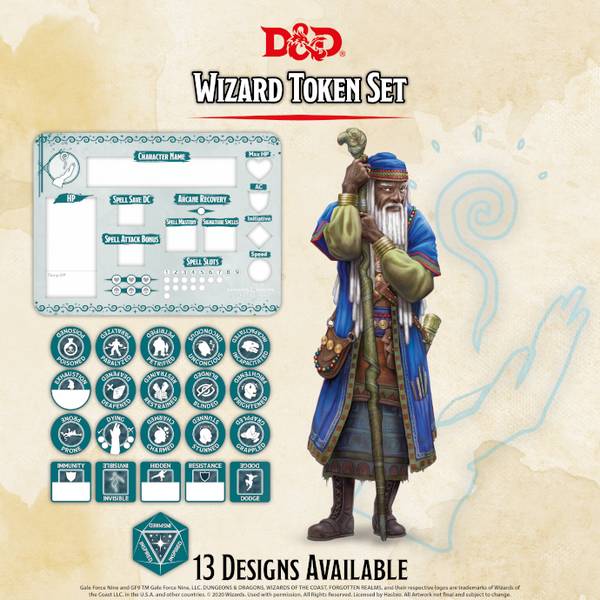 Wizard Token Set - D&D