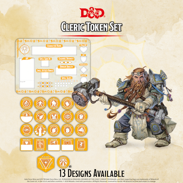 Cleric Token Set - D&D