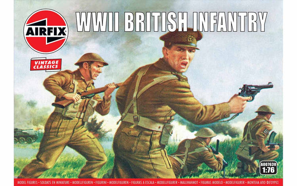 WWII British Infantry N. Europe Airfix Vintage Classics Kit