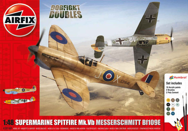 Spitfire Mk.Ia Messerschmitt Bf109E-4 Dogfight Double Gift Set