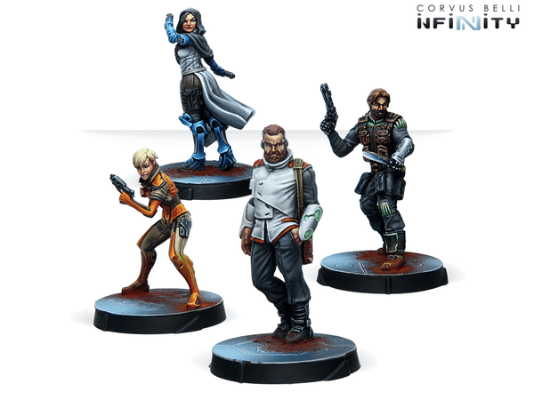 Infinity Agents of the Human Sphere RPG Characters Set - NA2