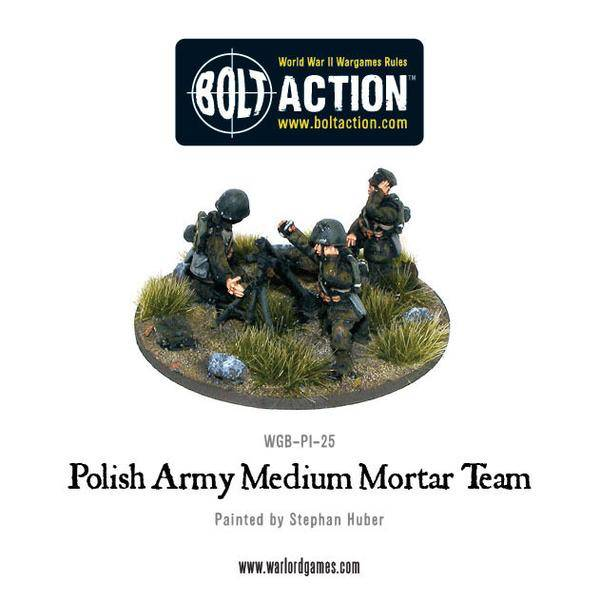 Polish Medium Mortar Team - Bolt Action