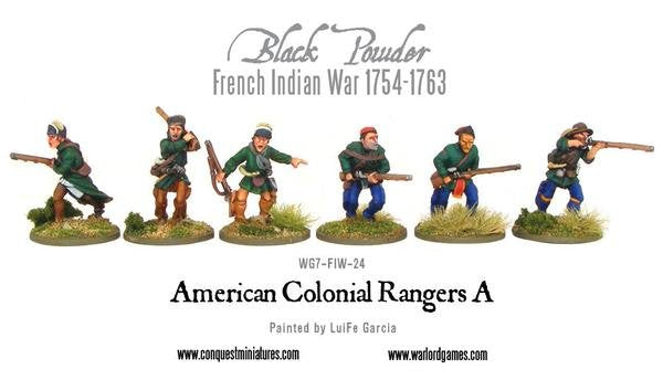 French Indian War 1754-1763 American Colonial Rangers A Pack