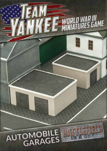 Automotive Garages Scenery Set