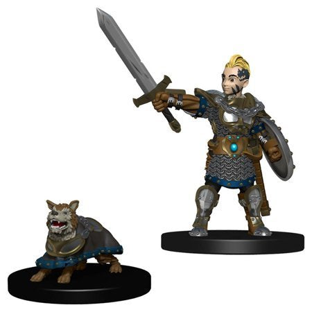 Wizkids Wardlings Miniatures: Boy Fighter and Battle Dog (Wave 1)