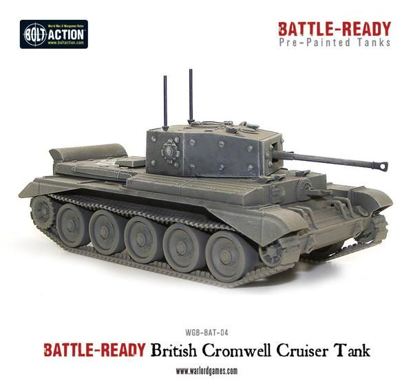 British Cromwell Battle Ready Tank - Pre painted