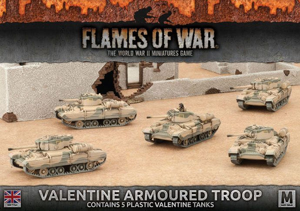British: Valentine Armoured Troop