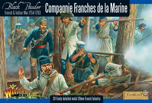 French Indian War 1754-1763 Compagnie Franches De La Marine Box Set