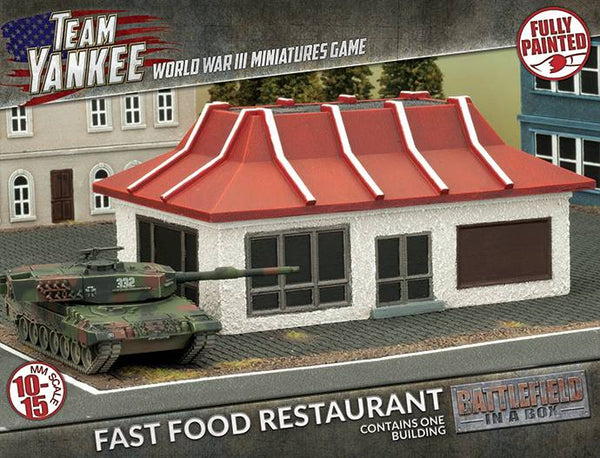 Fast Food Restaurant Scenery Set