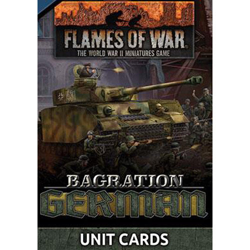 Bagration: German Late War Unit Cards