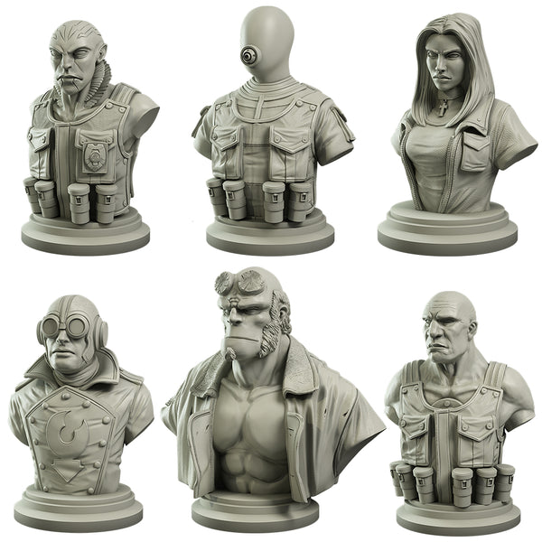 Hellboy Collector's Bust Set - Hellboy Miniatures Game