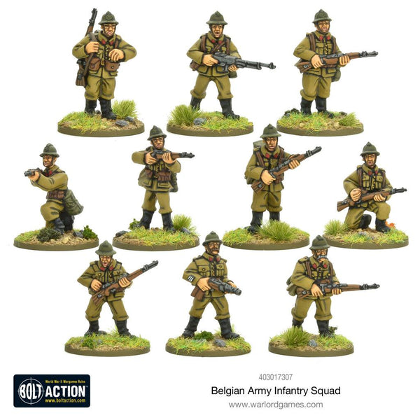 Belgian Infantry Squad Box Set