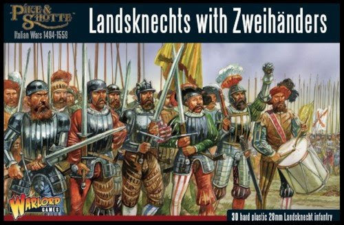 Landsknechts with Zweihanders - Pike & Shotte