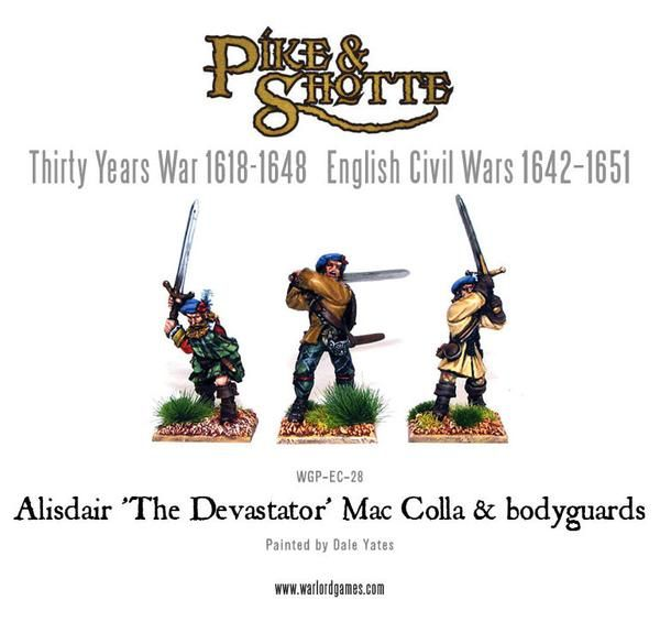 "30 Years War 1618-1648 Mac Colla ""The Devastator"" & Bodyguard Pack"