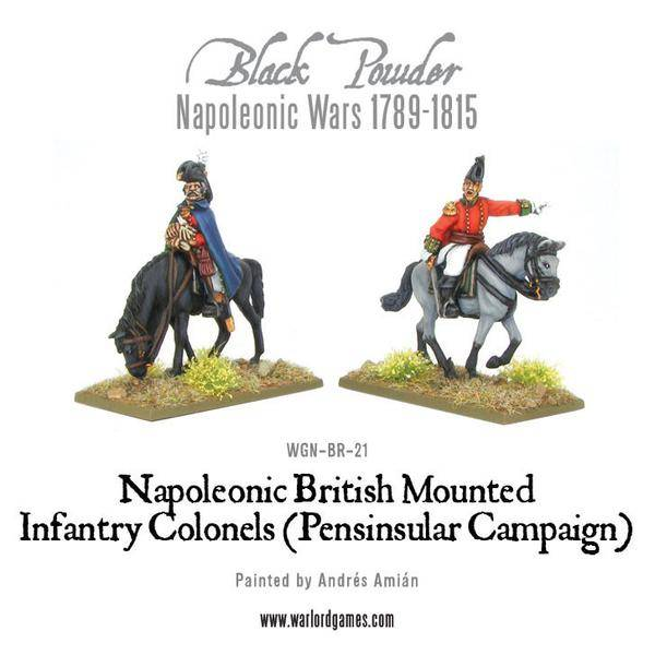 Napoleonic Wars 1789-1815 Mounted British Infantry Colonels (Peninsular) Box Set