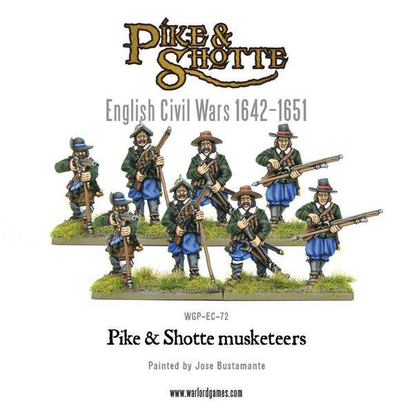 English Civil Wars 1642 - 1652 Pike & Shotte Musketeers Pack