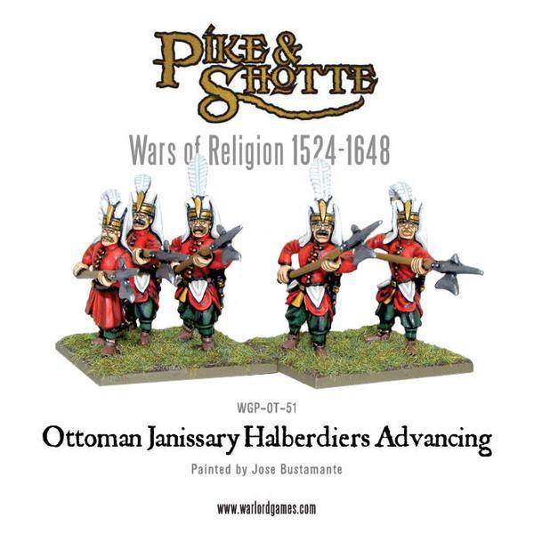 Wars Of Religion 1524-1648 Ottoman Janissary Halberdiers Advancing Pack