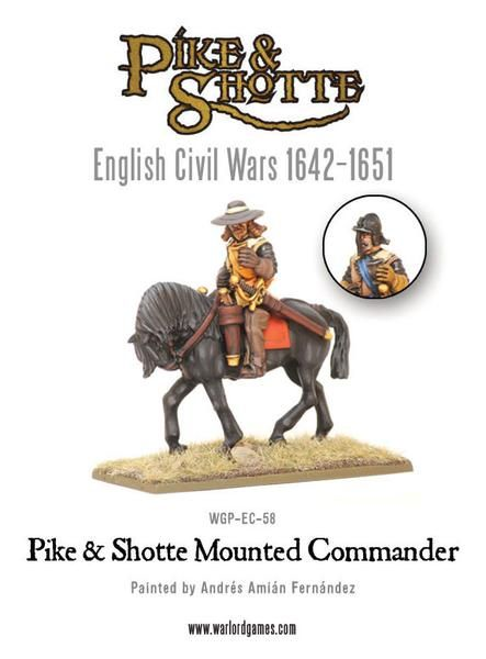 English Civil Wars 1642-1652 Pike & Shotte Mounted Commander Pack