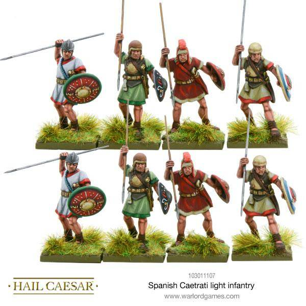 Spanish Caetrati light infantry - Hail Caesar