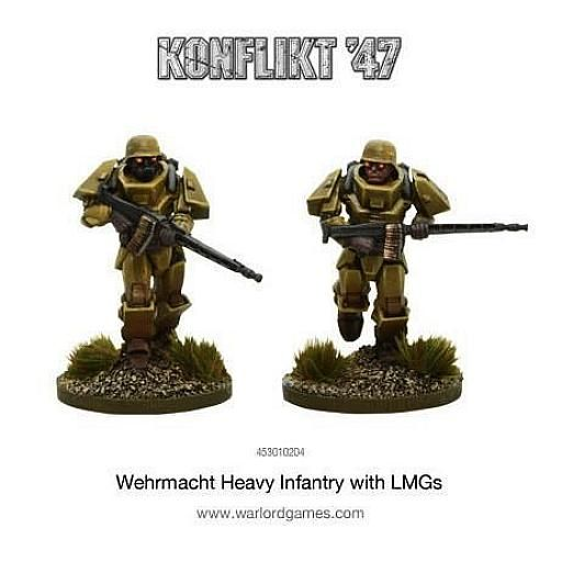 Wehrmacht Heavy Infantry with LMGs