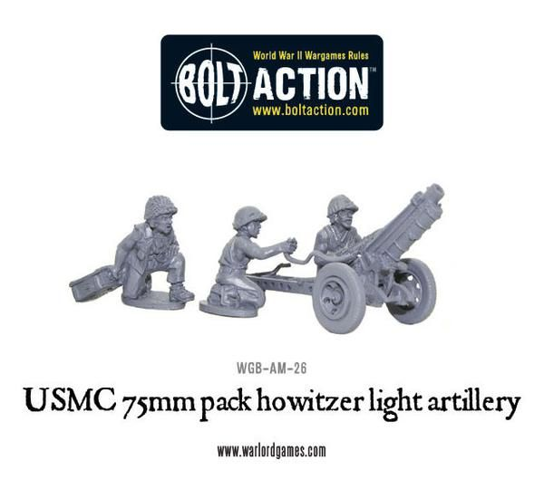 US Army Marine Corps 75mm pack howitzer light artillery