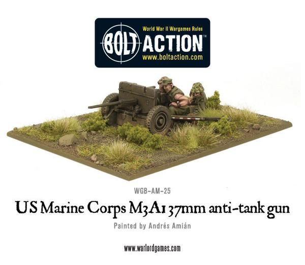 US Army Marine Corps M3A1 37mm anti-tank gun
