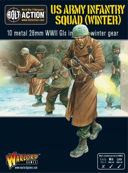 Army Infantry Squad in Winter Clothing - US Army