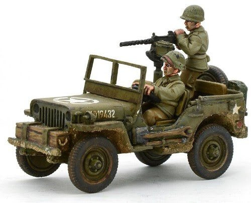 US Army Jeep with 30 Cal MMG Blister Pack
