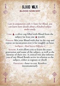 Discipline and Blood Magic Card Deck - Vampire The Masquerade 3